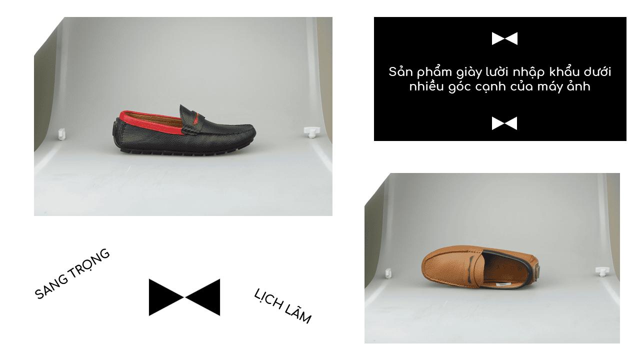 giày mọi nam bốn mùa màu đen viền đỏ gm931dd14