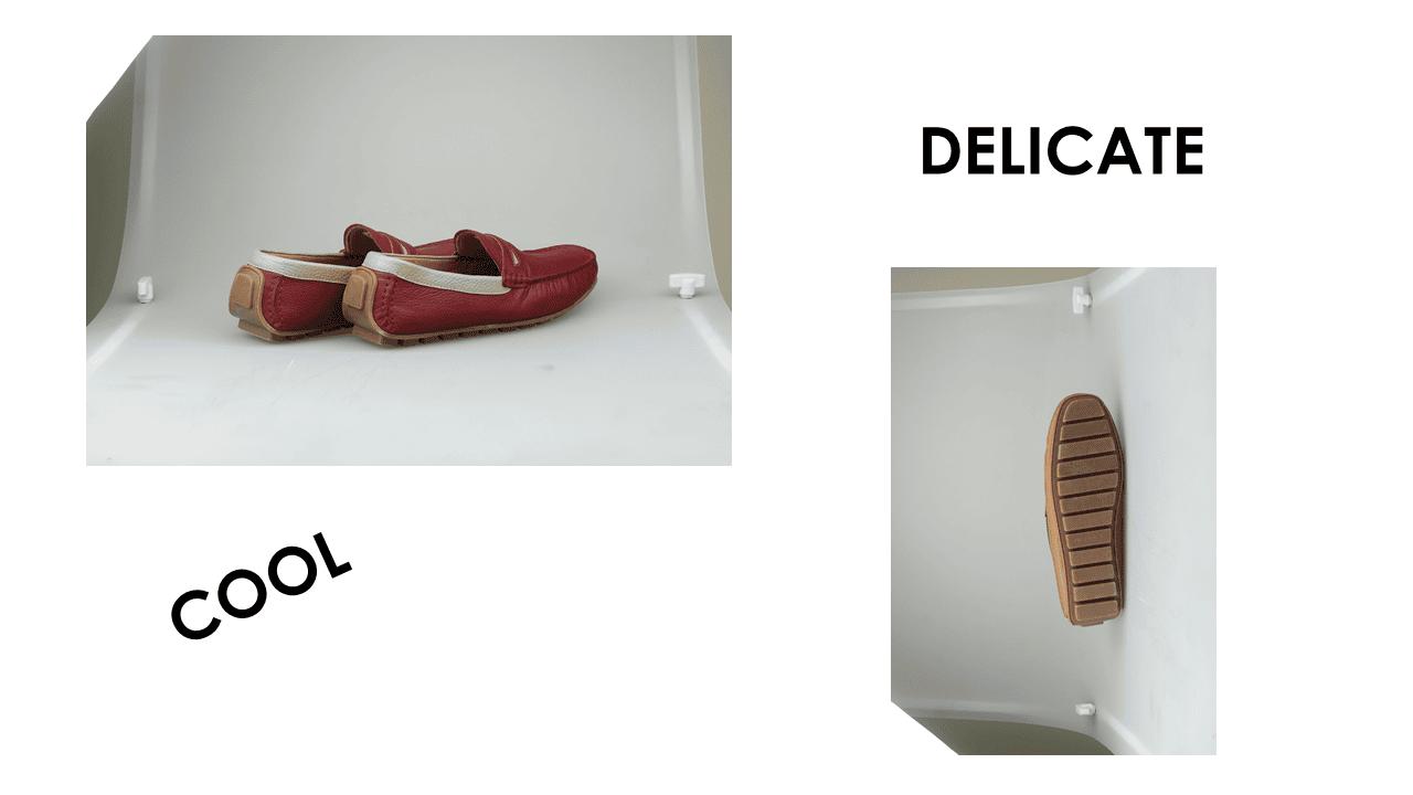 giày mọi nam bốn mùa màu đen viền đỏ gm931dd16