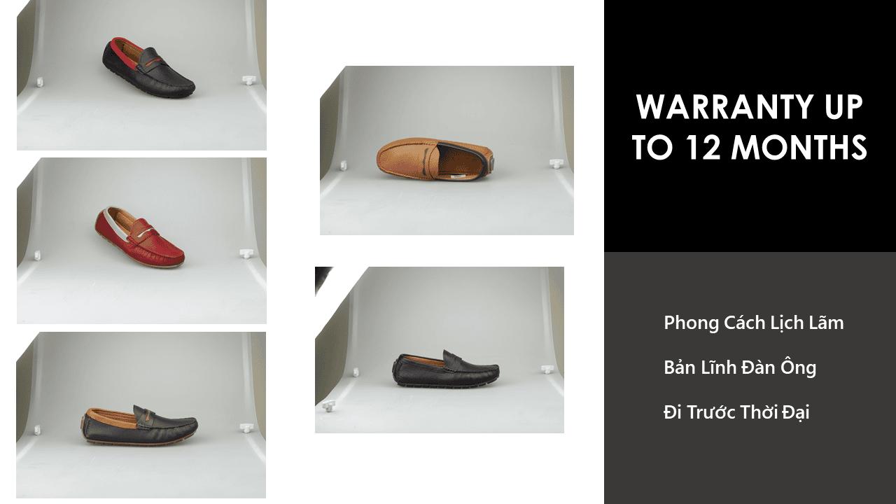 giày mọi nam bốn mùa màu đen viền đỏ gm931dd8