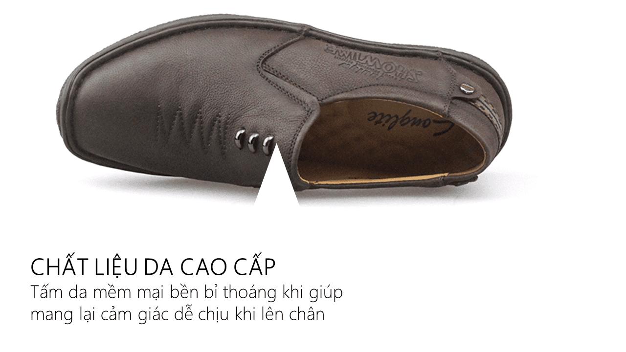 Giày lười hoa văn mũi tên cổ điển phong trần 2018 GL5892N6