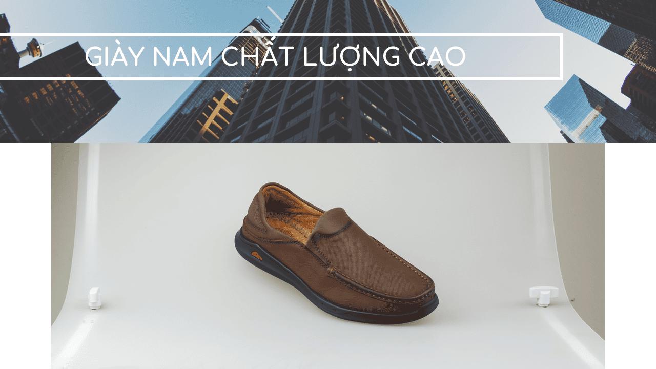 Giày lười nam trẻ trung bốn mùa màu nâu dành riêng cho các bạn trẻ Mã số GL361N1