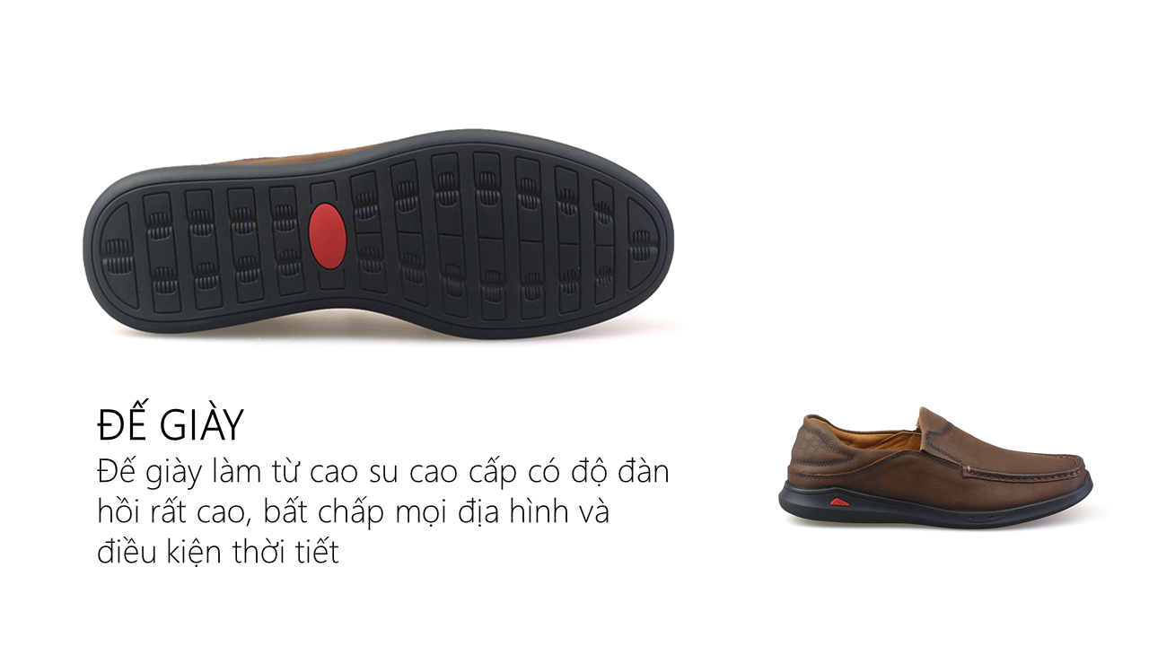 Giày lười nam trẻ trung bốn mùa màu nâu dành riêng cho các bạn trẻ Mã số GL361N3
