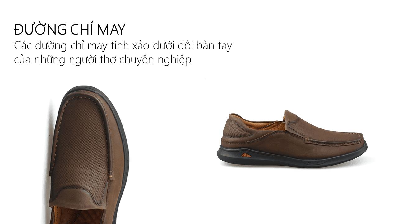 Giày lười nam trẻ trung bốn mùa màu nâu dành riêng cho các bạn trẻ Mã số GL361N5