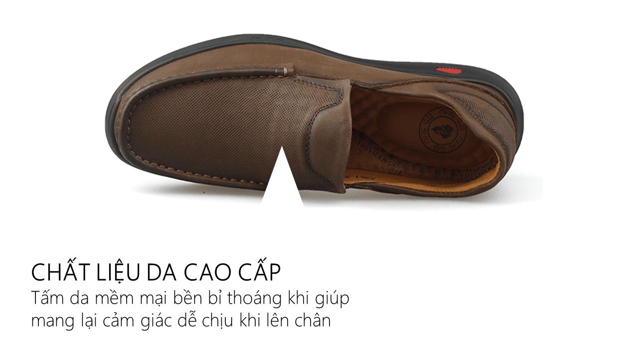 Giày lười nam trẻ trung bốn mùa màu nâu dành riêng cho các bạn trẻ Mã số GL361N6