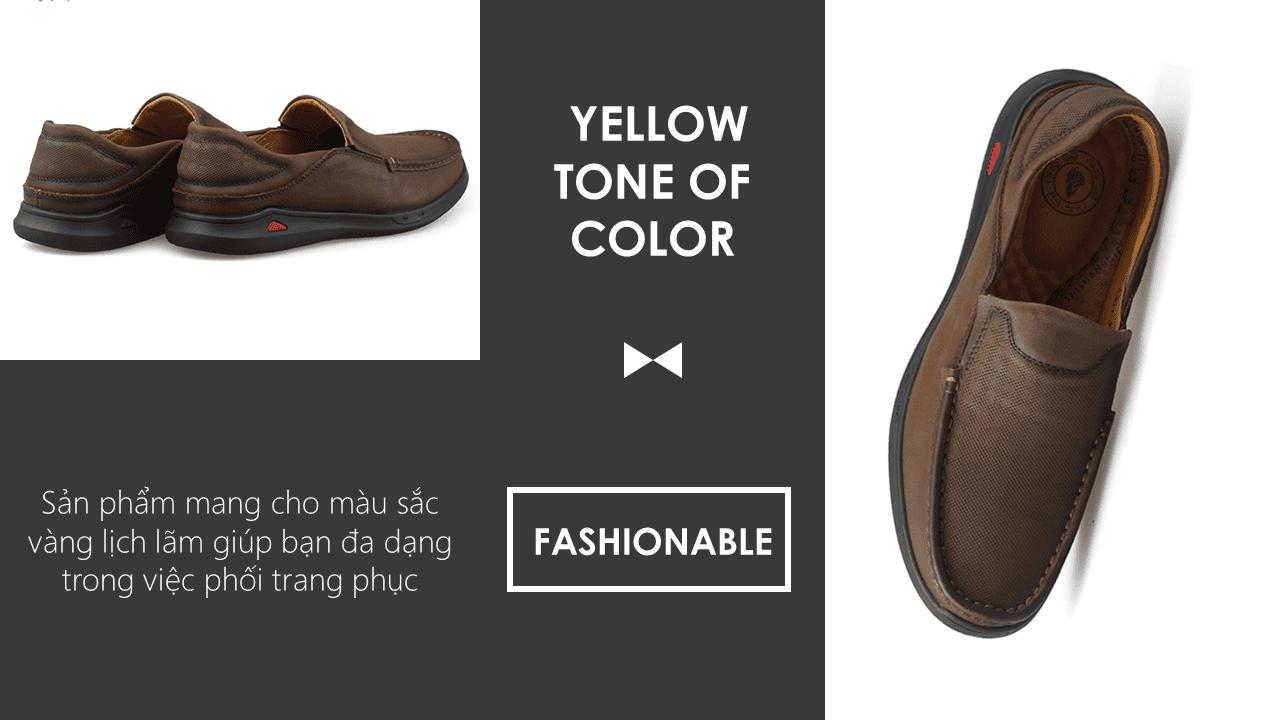 Giày lười nam trẻ trung bốn mùa màu nâu dành riêng cho các bạn trẻ Mã số GL361N7