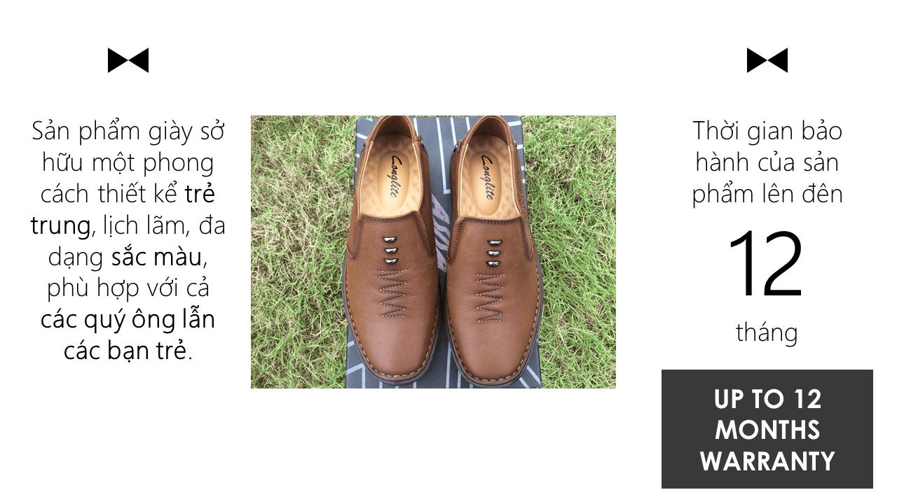 Giày lười nam nhập khẩu chính hãng kiểu dáng mũi tên 2018 GL5892V10