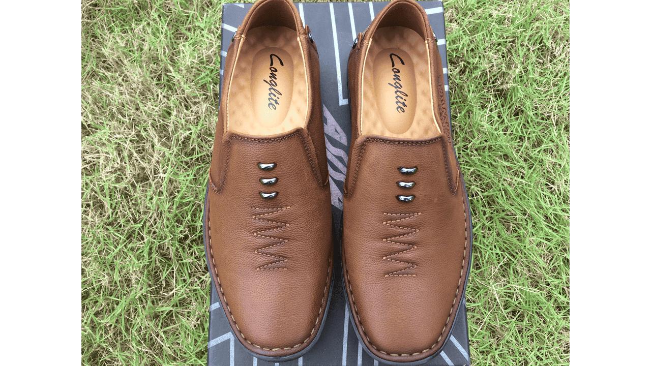 Giày lười nam nhập khẩu chính hãng kiểu dáng mũi tên 2018 GL5892V12