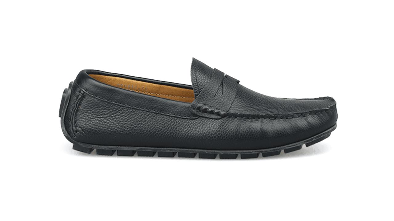 giày mọi nam mùa hè màu đen lịch lãm gm931d1