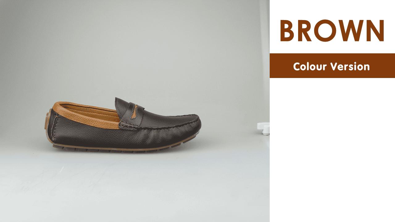 giày mọi nam mùa hè màu đen lịch lãm gm931d10