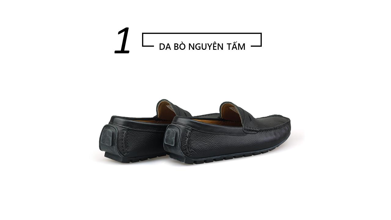 giày mọi nam mùa hè màu đen lịch lãm gm931d4