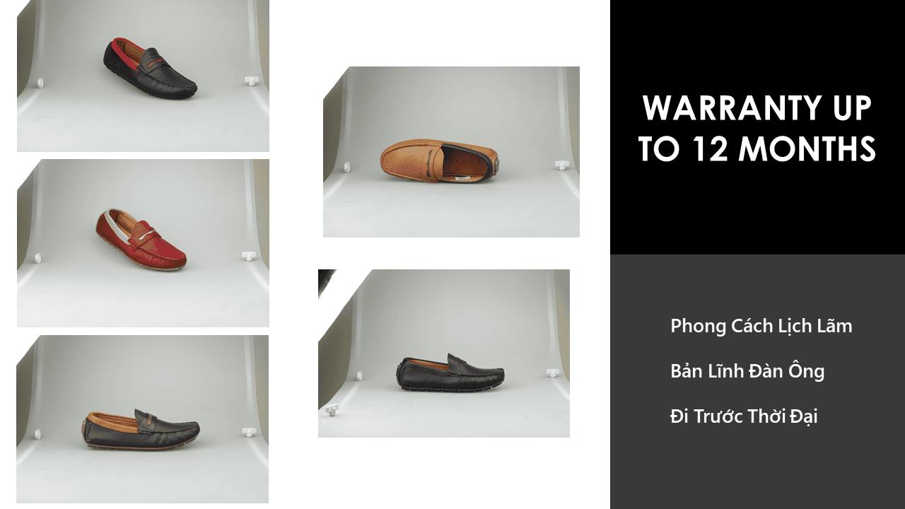 giày mọi nam mùa hè màu đen lịch lãm gm931d8