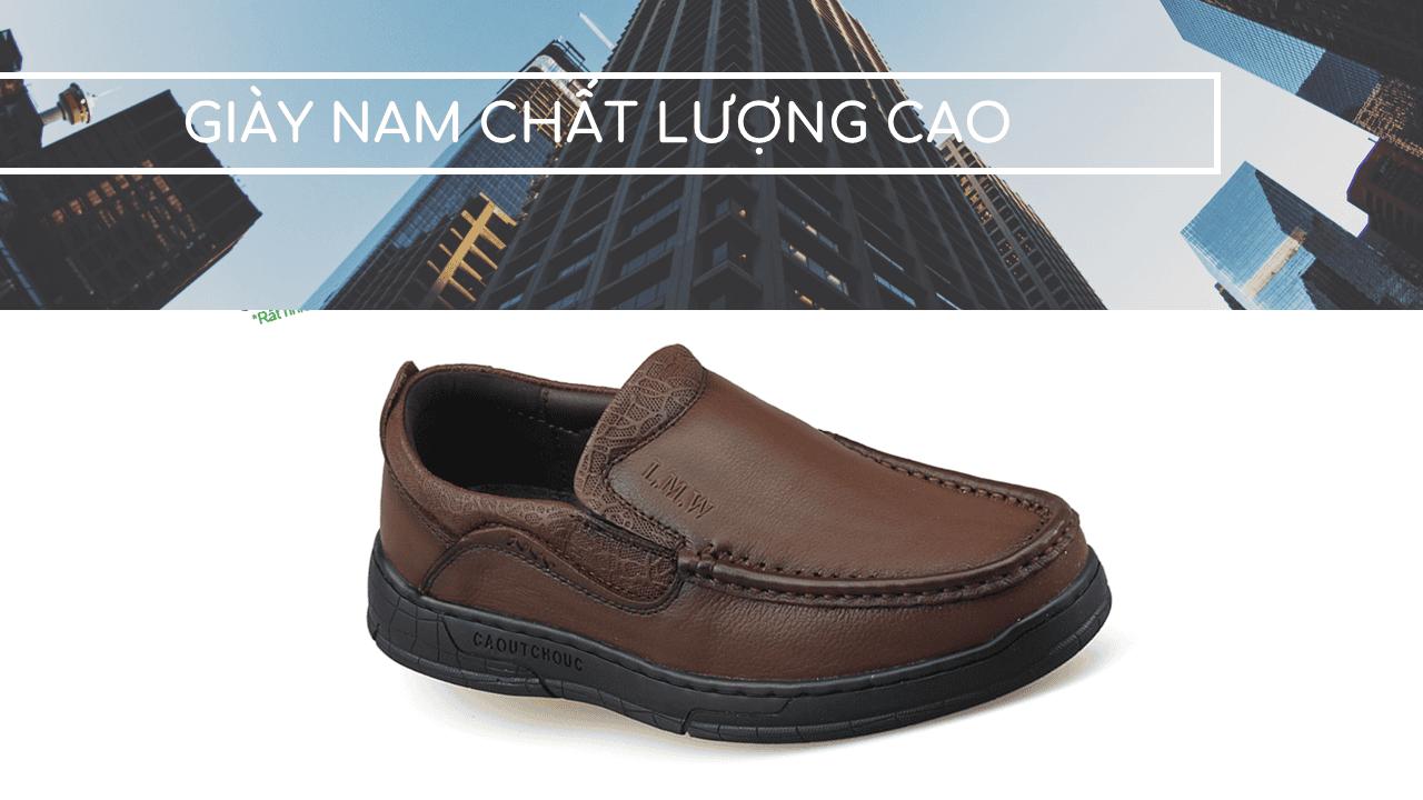 Giày lười thời trang lịch lãm nhập khâu phong cách SHMODE GL320N1