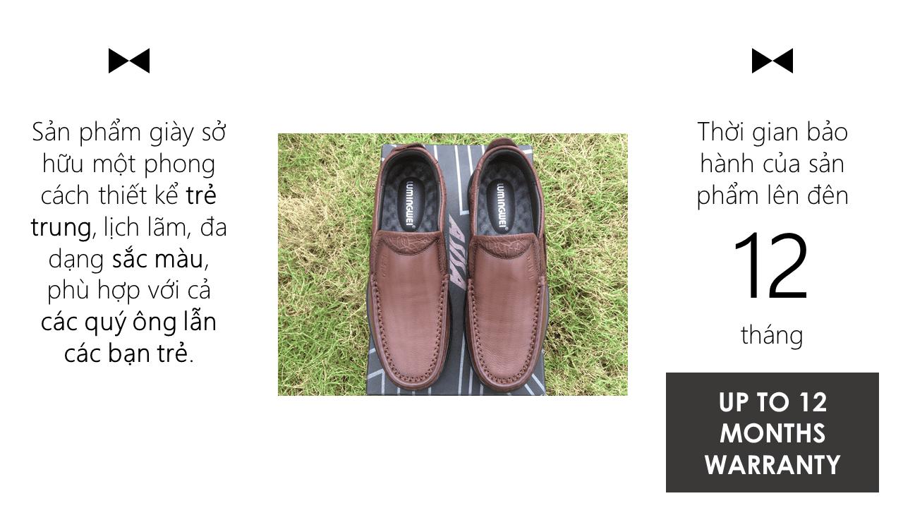 Giày lười thời trang lịch lãm nhập khâu phong cách SHMODE GL320N11