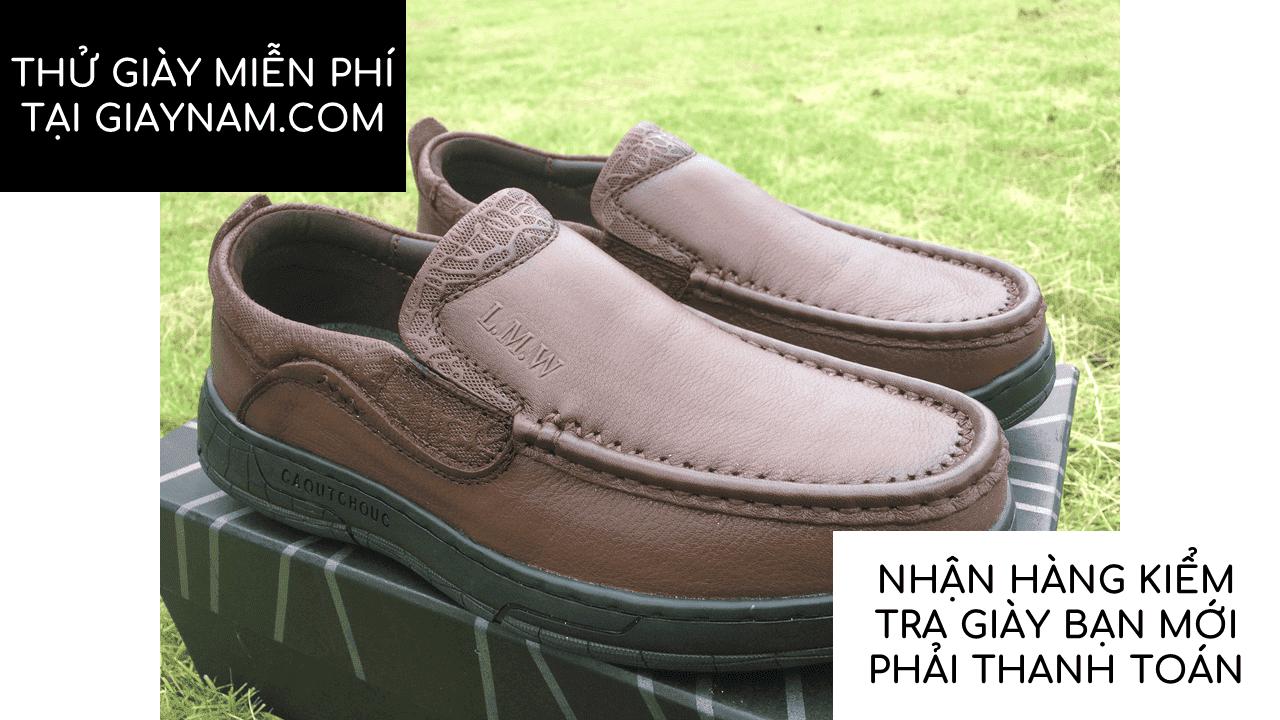 Giày lười thời trang lịch lãm nhập khâu phong cách SHMODE GL320N13