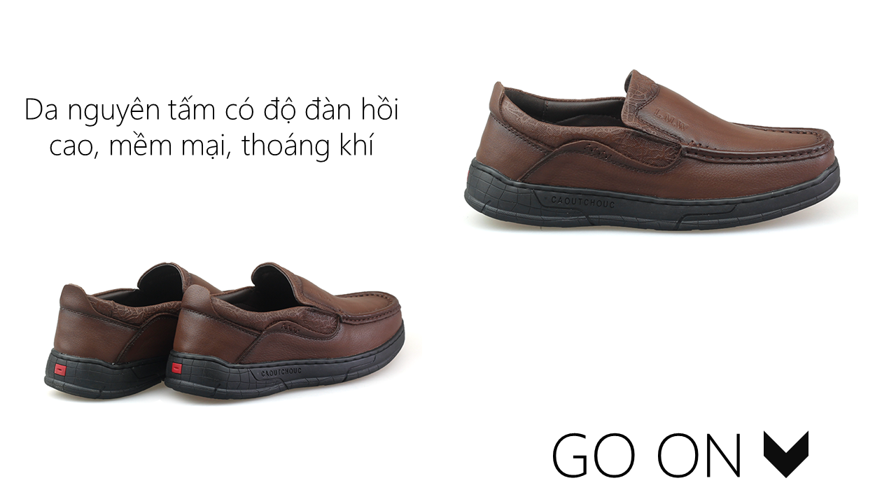 Giày lười thời trang lịch lãm nhập khâu phong cách SHMODE GL320N4