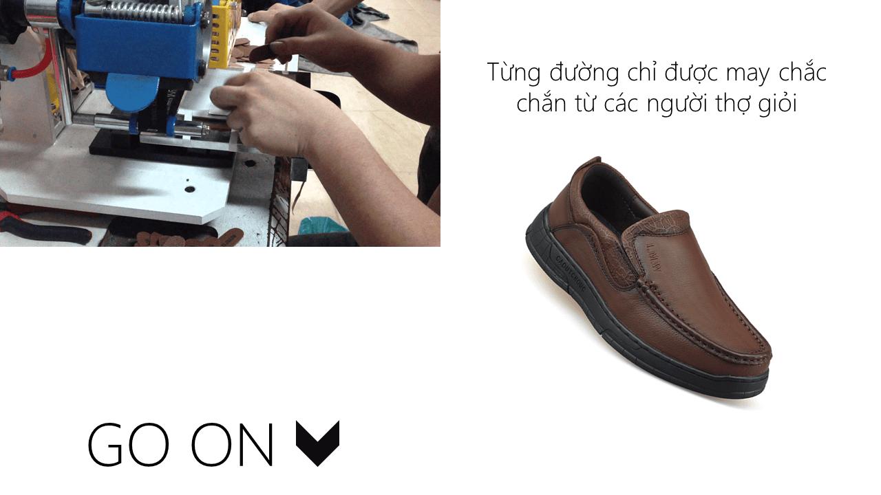 Giày lười thời trang lịch lãm nhập khâu phong cách SHMODE GL320N6