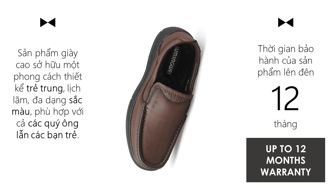 Giày lười thời trang lịch lãm nhập khâu phong cách SHMODE GL320N9