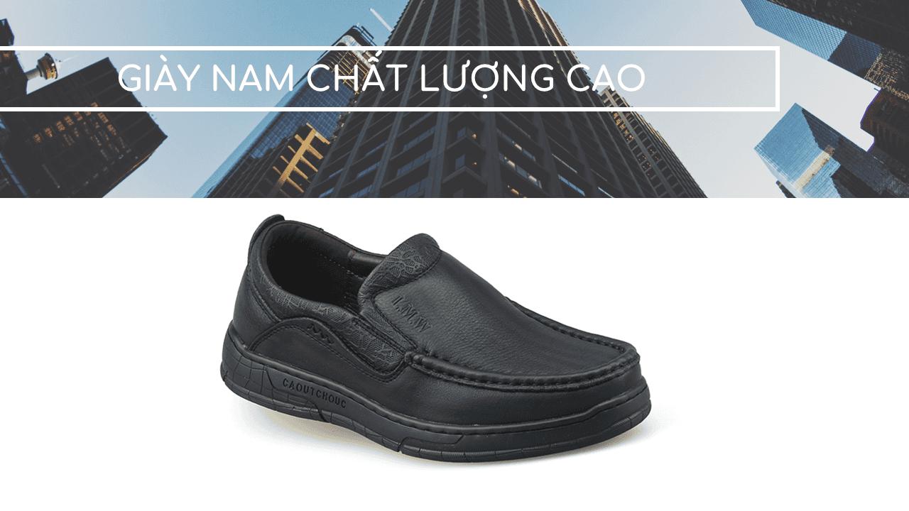 Giày lười thời trang lịch lãm nhập khẩu phong cách SHMODE 2018 GL320D1