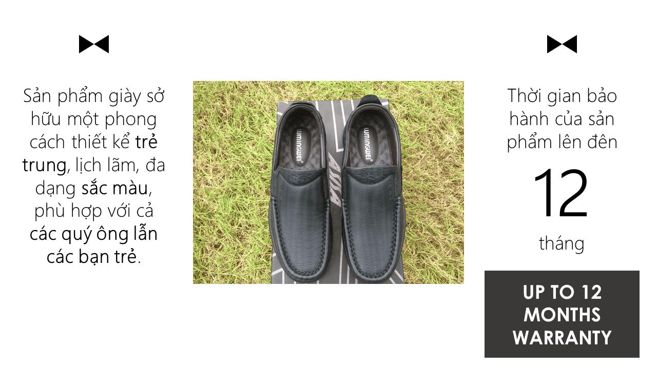 Giày lười thời trang lịch lãm nhập khẩu phong cách SHMODE 2018 GL320D11