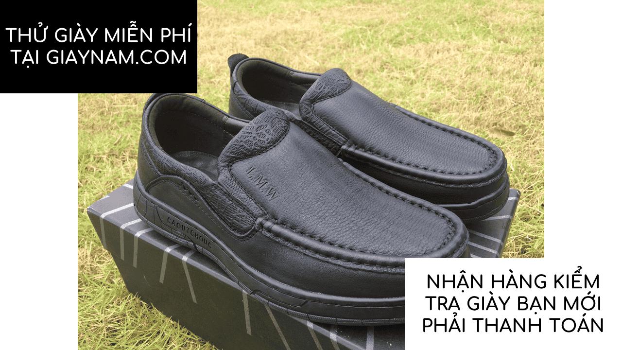 Giày lười thời trang lịch lãm nhập khẩu phong cách SHMODE 2018 GL320D13