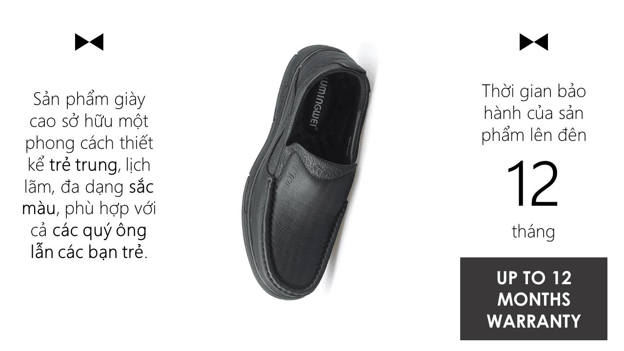 Giày lười thời trang lịch lãm nhập khẩu phong cách SHMODE 2018 GL320D9