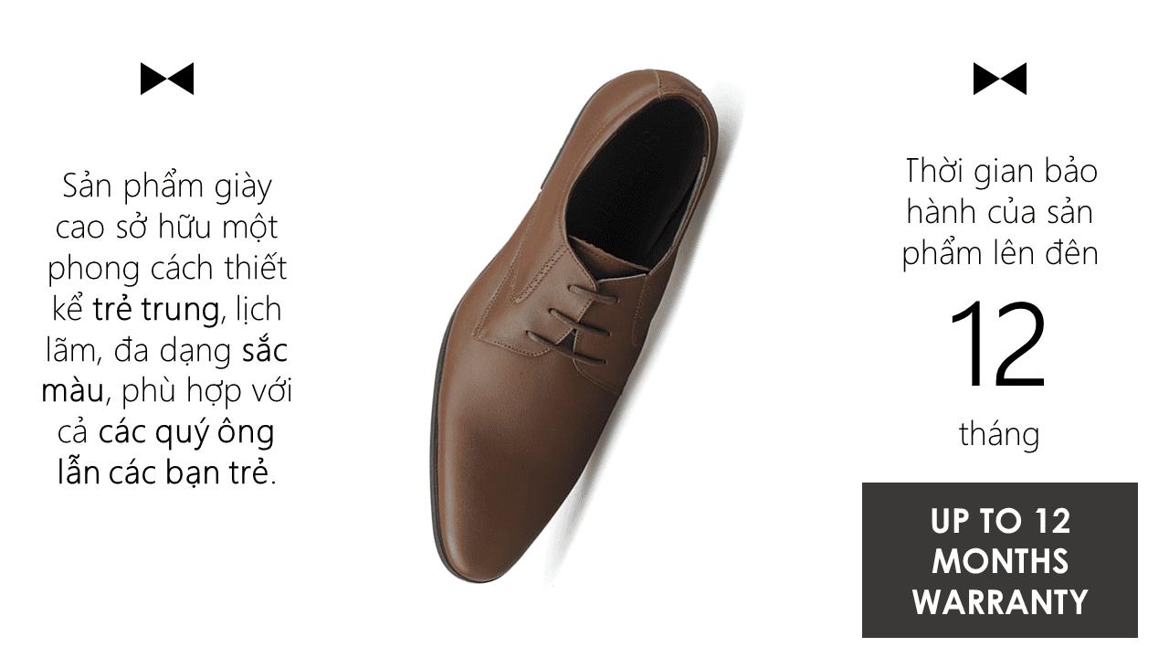 giày nam chất lượng cao thiết kể trẻ trung GCS6023N11
