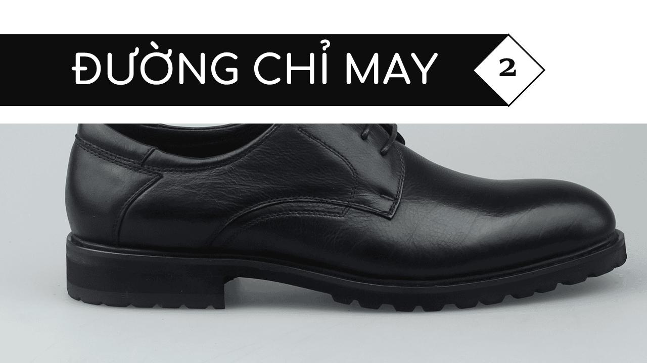 Giày thời trang nam đề viền răng cưa màu đen 5