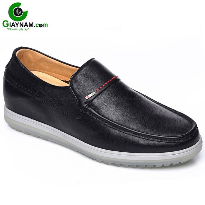 Giày tăng chiều cao nam màu đen thời trang GOG mã GCL6660D