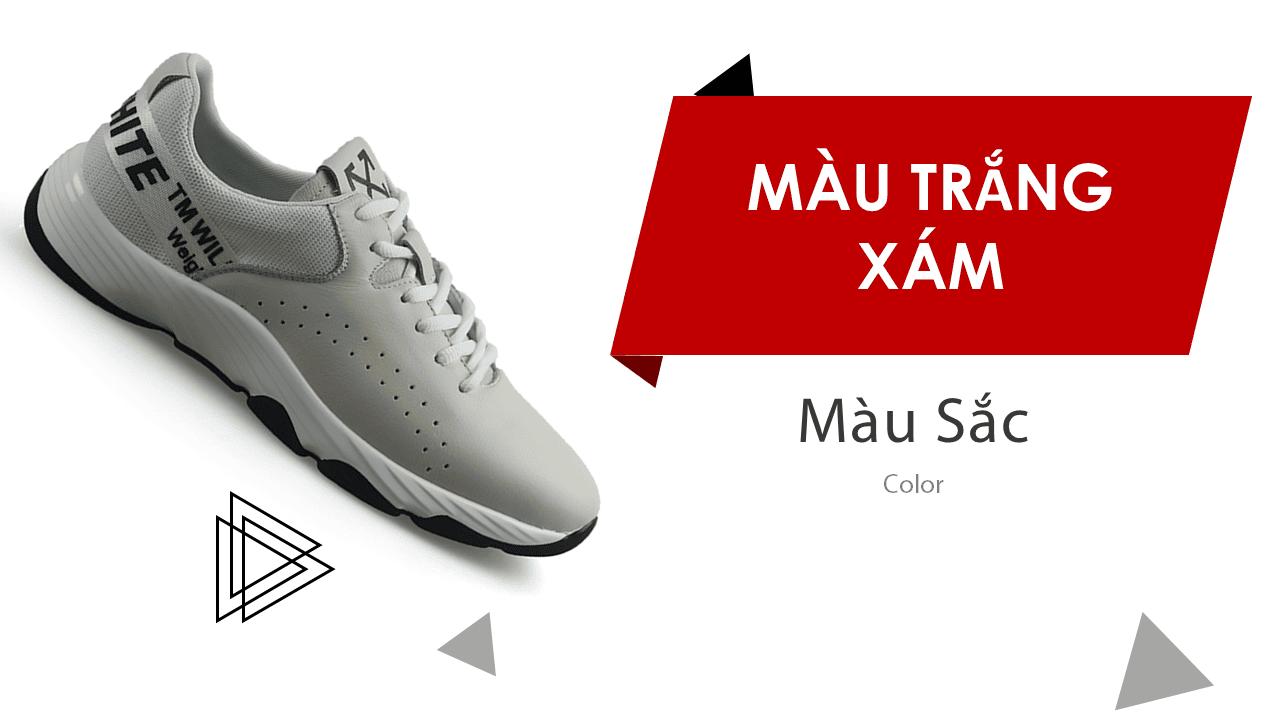 Giày thể thao năng động 2018 màu trắng xám hàng nhập khẩu15