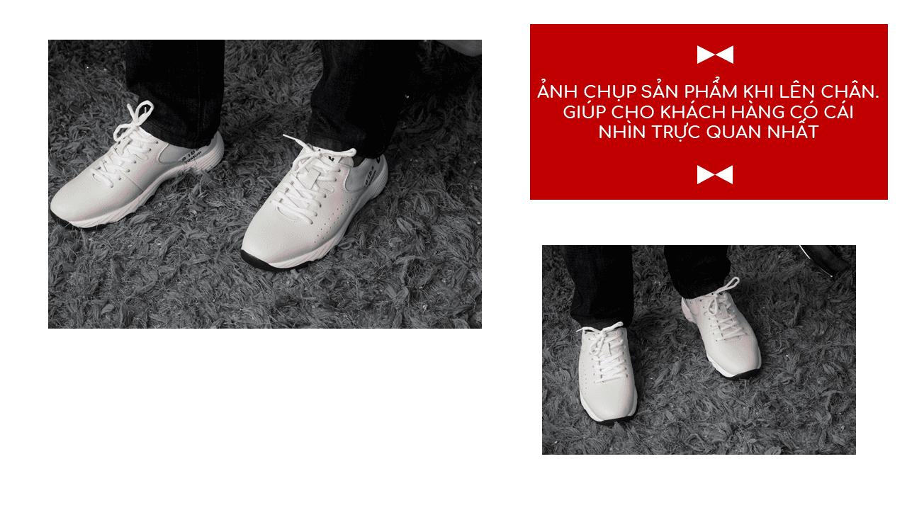 Giày thể thao năng động 2018 màu trắng xám hàng nhập khẩu16