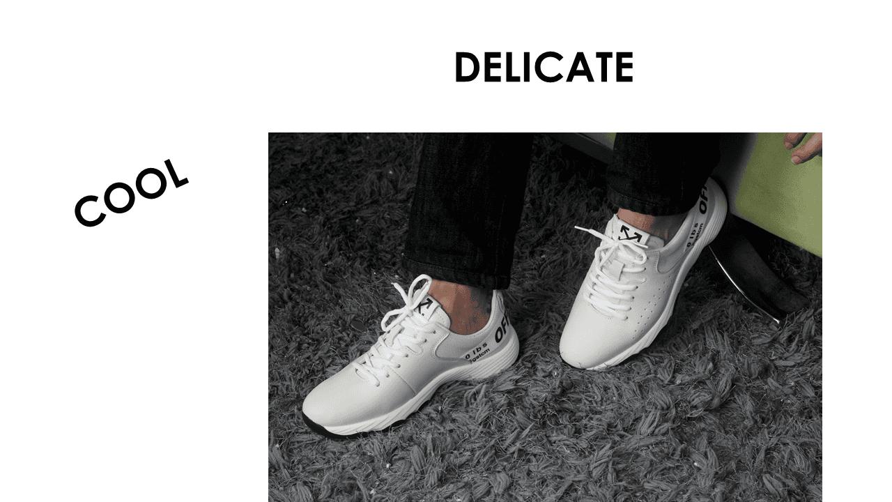 Giày thể thao năng động 2018 màu trắng xám hàng nhập khẩu17