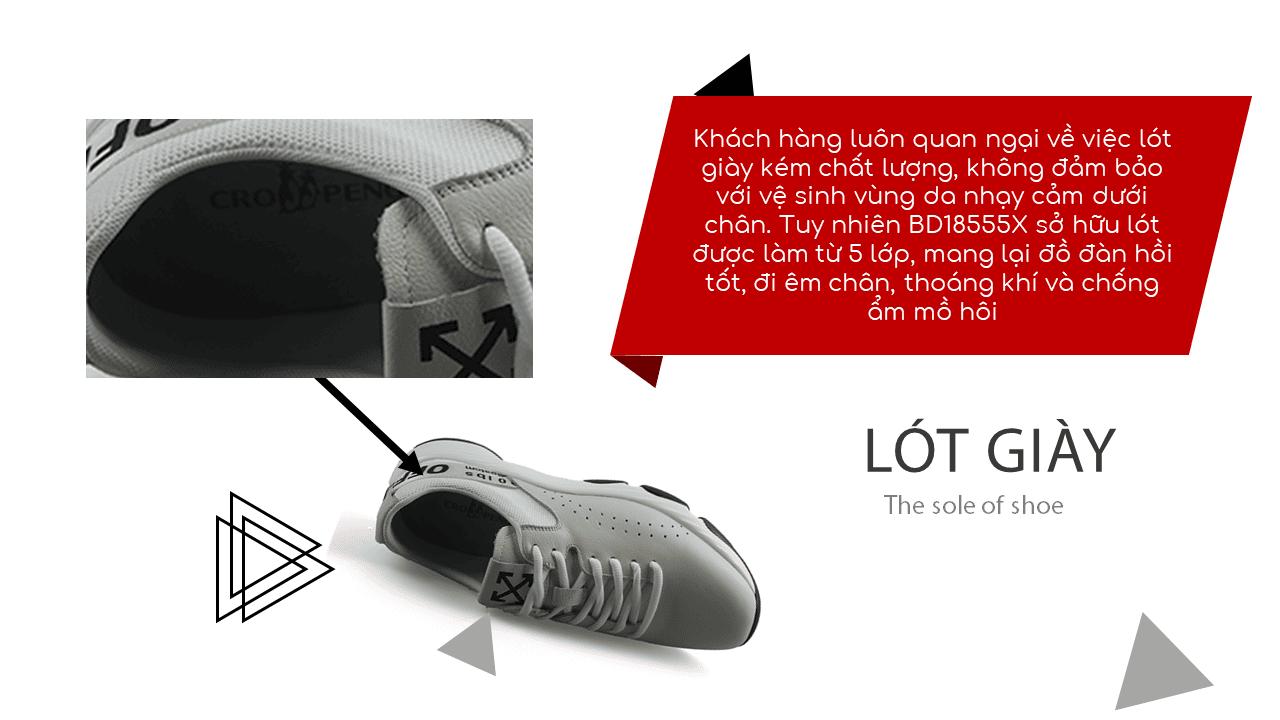 Giày thể thao năng động 2018 màu trắng xám hàng nhập khẩu7