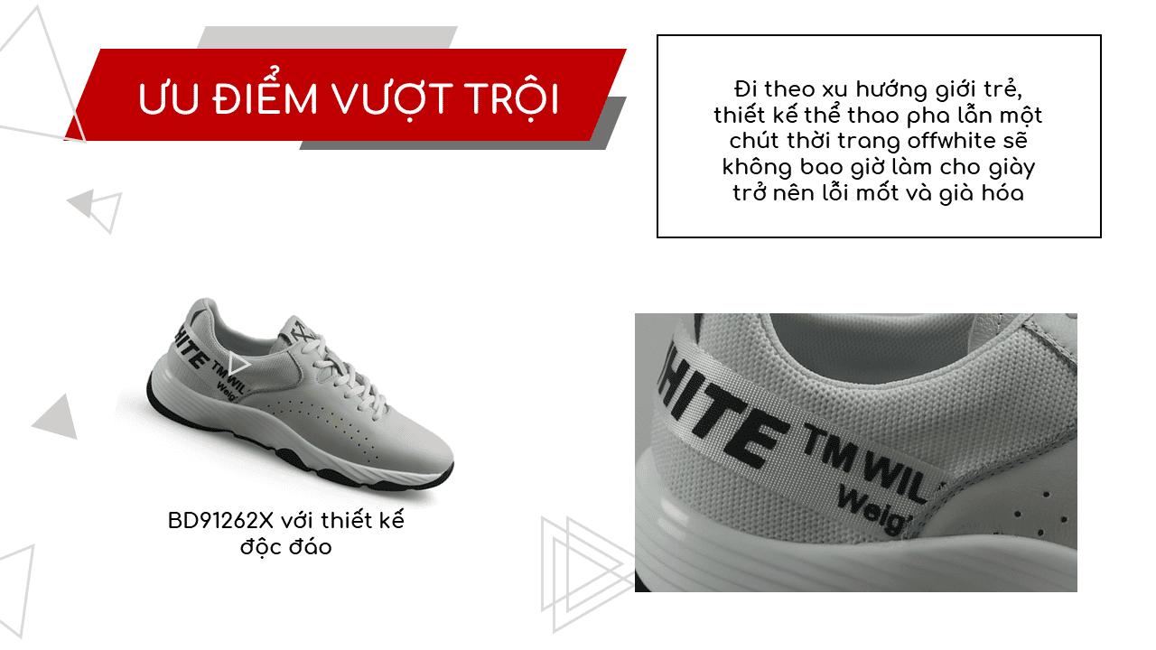 Giày thể thao năng động 2018 màu trắng xám hàng nhập khẩu9