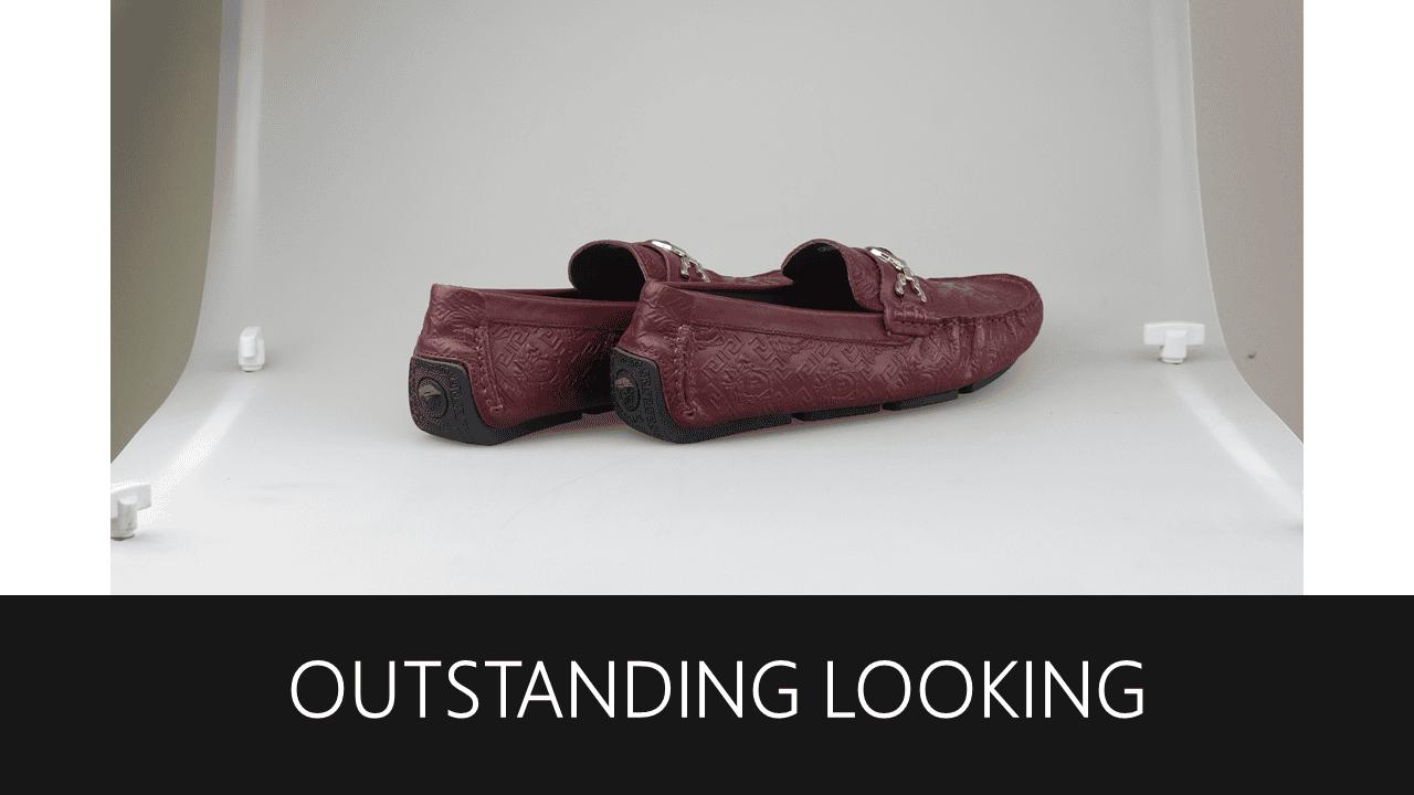 giày lười nhập khẩu thương hiệu versace 2018 GL2061DD10