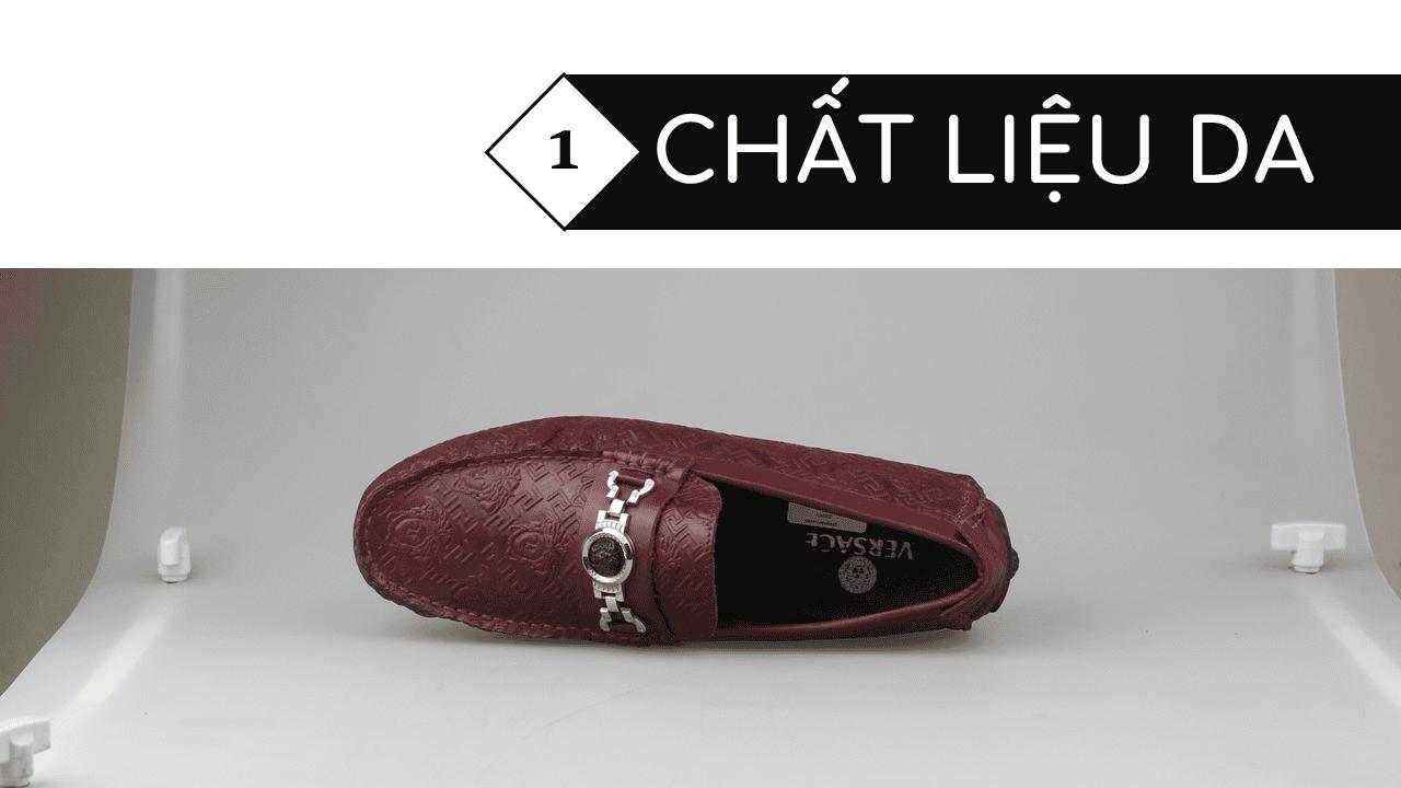 giày lười nhập khẩu thương hiệu versace 2018 GL2061DD3