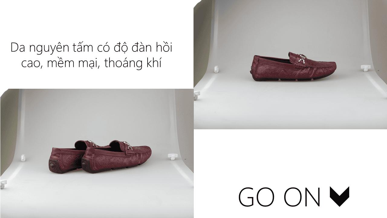 giày lười nhập khẩu thương hiệu versace 2018 GL2061DD4