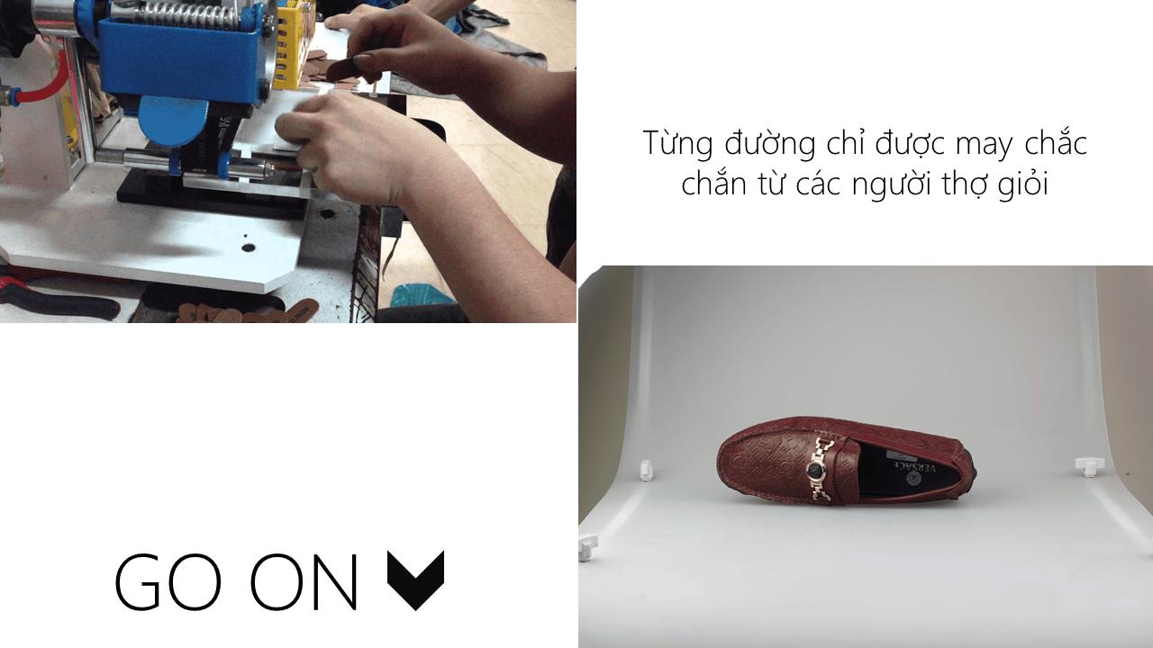 giày lười nhập khẩu thương hiệu versace 2018 GL2061DD6