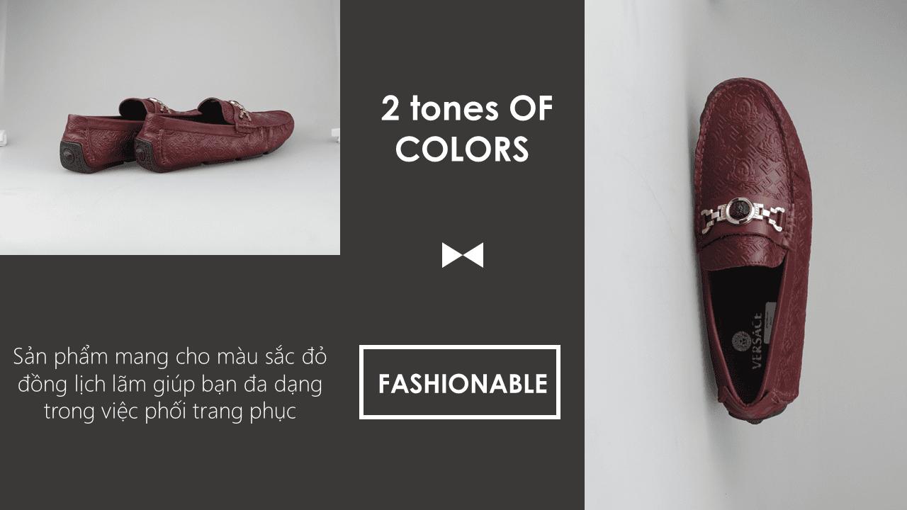 giày lười nhập khẩu thương hiệu versace 2018 GL2061DD9