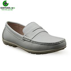 Giày lười nam da bò trắng đẹp; GL001T