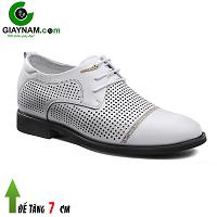 Giày cao nam sang trọng thương hiệu GOG màu trắng viền lưới; Mã số GC88831T