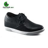 Giày nam tăng chiều cao 7cm thời trang màu đen bóng mã GCD415181D