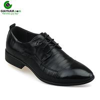 Giày công sở buộc dây màu đen hoa văn tinh xảo mới 2018; Mã số BD18719D