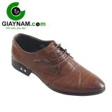Giày công sở buộc dây cho nam màu nau mã BD5292N