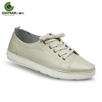 Giày da thể thao thời trang màu trắng sữa đẹp nhất hệ mặt trời mã số: 8275T