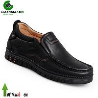 Giày cao lười GOG 6cm cho nam màu đen đế cao su sang trọng 2018; Mã số GC88850D