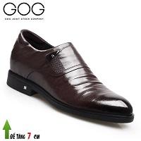 Giày cao 7cm thương hiệu GOG màu nâu thiết kế đến từ tương lai; Mã số GC88857N