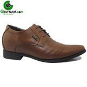 Giày cao S.Drolun buộc dây màu nâu hình sóng xước mã GCD23011N