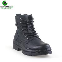 Giày cao cổ nam kiểu cách palladium màu đen huyền bí 2018; Mã số GCC1202D