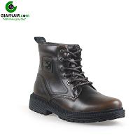 Giày cao cổ nam phong cách Ý nhập khẩu màu nâu 2018; Mã số GCC7582N