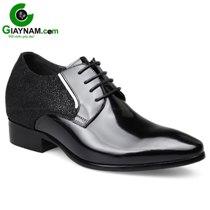 Giày cao gót nam màu đen công sở GOG mã GCD866079D